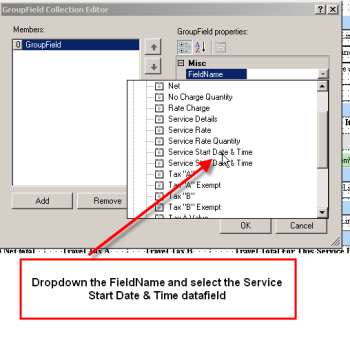 find the Service Start Date/Time